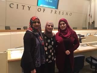Jameela Khan, Wasan Abu Baker, And Deema Kashak at International Women's Day Event